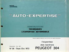 1972 PEUGEOT 304 CATALOGUE DE PIECES DETACHEES AUTO EXPERTISE POUR ASSURANCE