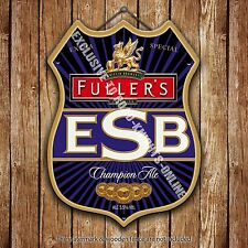Fuller's ESB Ale Beer Advertising Bar Old Pub Metal Pump Badge Shield Steel Sign