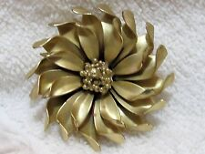Vintage Gold Tone Flower Pin Brooch Signed CORO