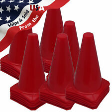 """NEW! 9"""" Tall RED CONES Sports Training Safety Cone Horse Training Qty 36"""