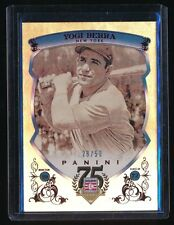 YOGI BERRA 2014 PANINI HALL OF FAME RED FRAME RED 28/50 NEW YORK YANKEES