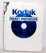 Kodak Pocket Photoguide 1989 Exposure Light meter Flash Guide 40 pages English