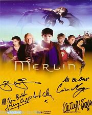 Merlin Cast 8 x 10 Autograph Reprint  Colin Morgan  Bradley James  +2