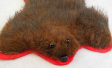 """Dollhouse 1;12 scale handcrafted brown fur bear rug great for cozy cabin 6"""" x 8"""""""