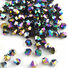 500pcs Loose Glass Crystal Bicone Shaped Spacer Beads For Jewelry Making 4mm 6mm
