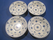 """JOHNSON BROTHERS ENGLAND - SET OF 4 CEREAL/COUPE BOWLS """"DENMARK BLUE"""""""