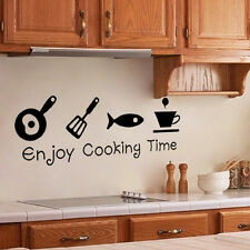 Sticker Autocollant Amovible Modèle Enjoy Cooking Time Utensiles Cuisine Cadeau