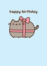 Pusheen The Cat ~ Regalo Di Buon Compleanno ~ Biglietto In Bianco
