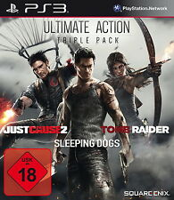Playstation 3 Spiel: 3in1 Action Pack PS-3 Tomb Raider/Just Cause 2/Sleeping Dog