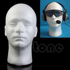 Styrofoam Foam Male Mannequin Manikin Head Model Wig Glasses Hat Display Stand