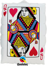 "30"" Casino Card Night Party Decoration Playing Card Design Giant Foil Balloon"