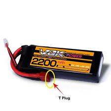 VOK Lipo Battery 11.1V 25C 2200mAh T-Plug Discharger Plug for RC Racing Drone AY