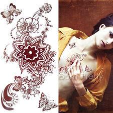 Einmal Tattoo Körper Tattoo Aufkleber Hauttattoo Körper Schmuck Blumen