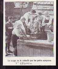 1920  -  SAINT GERMAIN PETITS CAMPEURS LAVAGE VAISSELLE