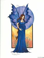 Amy Brown Print The Longest Month Fariy Faery Pregnant Maternity Baby Shower