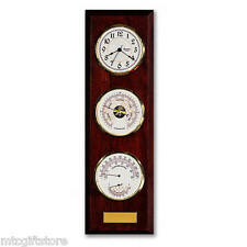 Bulova Engraveable Quartz Wall Clock Temperature, Barometer &  Humidity  # 89493