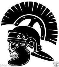 ROMAN WARRIOR WITH SKULL BUMPER STICKER TOOLBOX STICKER DIE CUT