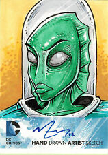 DC Comics New 52 Sketch Card by Mike Vasquez of Lagoon Boy