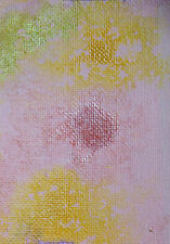 ACEO ORIGINAL PAINTING by Studio Angela Pink/Gold Abstract #1