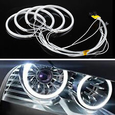 4x White 6000K CCFL Angel Eye Halo Rings Lamp Headlight for BMW E36 E38 E39 E46