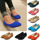 Womens Ladies Ballerina Dolly Microsuede Pumps Slippers Moccasins Flat Shoes New