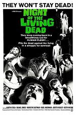 "Vintage Horror Silk Fabric Movie Poster New 24""x36"" Night of The Living Dead"