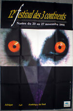 12ème FESTIVAL DES 3 CONTINENTS Nantes AFRIQUE Asie AMERIQUE SUD 1990