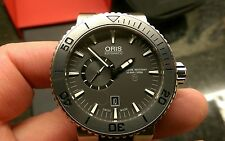 ORIS mens aquis titanium small second swiss divers watch (model - 31 94656)