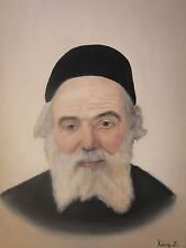Original painting on Canvas Of The Chofetz Chayim 171/2 By 131/2.Judaica.