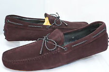 Tod's Mens Shoes Loafers Drivers Laccetto New Gommini Size 12 Moccasin Brule NIB