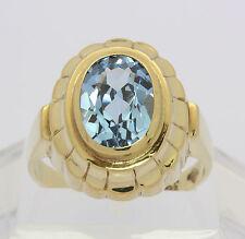 Blau Topas Ring in aus 8 kt Gelb Gold mit Blautopas Goldring Topasring Edelstein