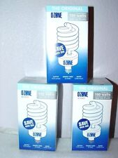 3 Ozone Lite Air Purifier Light Bulb NEW Eliminate Odor Smoke Kill Bacteria TIO2