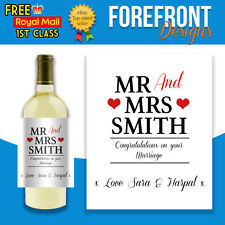 Personalised Wine Bottle Label, Perfect Wedding/ Marriage Gift/ Anniversary etc.