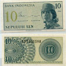 "Indonesia 10 cent  UNC 1964 ""X"" Replacement Banknote Rupiah"
