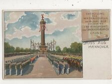 Gruss Aus Hannover Enthuellung Waterloosaeule Germany Chromo Postcard 004b