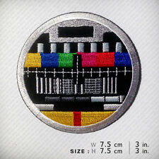 NO SIGNAL TV Embroidered patch iron on, D.I.Y Clothes Bag Fashion Chic Cool Fun