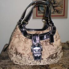 COACH AUTHENTIC HORSE & CARRIAGE HOBO BAG F15209 MINT CONDITION!