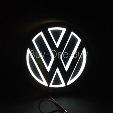 5D Reflective LED LOGO Emblem Badge Decal Sticker Lights For vw Volkswagen White