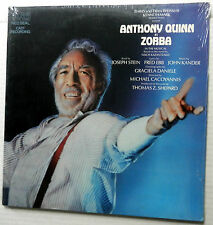 ZORBA musical cast SEALED LP with ANTHONY QUINN