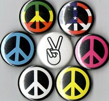 Peace sign 7 pins buttons badges symbol new