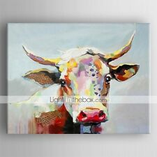 Oil Painting Modern Abstract Cow Hand Painted Canvas