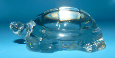 BEAUTIFUL BACCARAT SIGNED MADE IN FRANCE TURTLE ART GLASS PAPERWEIGHT FIGURINE