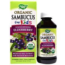 Nature's Way, Organico Sambucus per bambini, standardizzato di Sambuco, bacche di sapore,