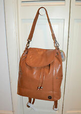 NWT $199 The Sak AVALON Tobacco Tan Leather 2 Way Convertible Hobo Backpack