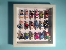 Lego figurine figure custom display case frame storage disney série complète