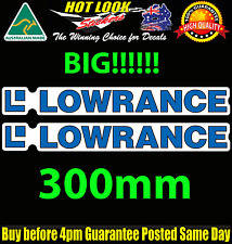 Lowrance 2X LARGE DECAL STICKER 300MMX38MM Fish Finder FISHING BOAT tackle Box