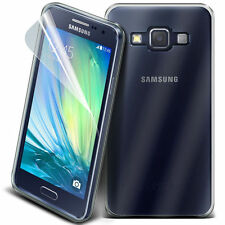Tough Thin Clear TPU Gel Skin Case Cover & Screen Guard for Samsung Galaxy A7