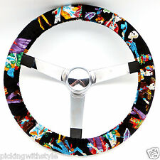 Hand Made Steering Wheel Covers fiesta de los muertos day of the dead skulls
