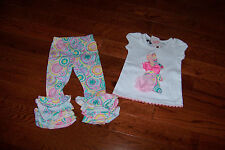 NWT MUD PIE BUNNY TUNIC & LEGGING SET 6-9M