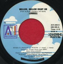 "LOWRELL ""Mellow, Mellow Right On/Overdose"" AVI 300 EX Soul"
